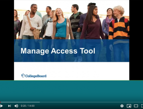 VIDEO: How to Use the College Board Manage Access Tool for Assessment Reporting